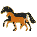 "Lapel Pin ""Mare and Foal"" b&b"