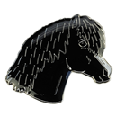 "Lapel Pin ""Pony Head"", black"