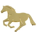 "Lapel Pin ""Canter"", gold"