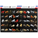 "Display Card ""Horse Designs"", 50 Pins"