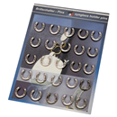 "Display Card ""Horse Shoe Pins"", 25 Pins"