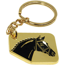 "Keyring ""Horse Head"", gold"