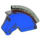 "Paper Card and Photo Holder ""Horse Head"", Blue"