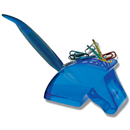 "Paperclip and Pen Holder ""Horse Head"", Blue"