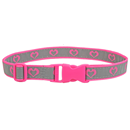 "Reflective Belt ""Hearts"", pink"