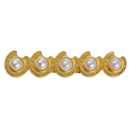 "Brooch ""Horse Shoes with Pearls"", Gold"