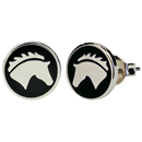 "Ear Studs ""Horse Head"", black"