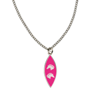 "Necklace ""2 Horse Heads"", pink"