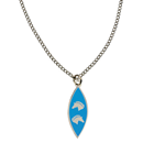 "Necklace ""2 Horse Heads"", blue"