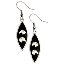"Earrings ""2 Horse Heads"", black"