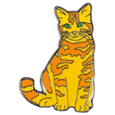 "Lapel Pin ""Cat"", Red Tabby"