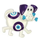 "Bobblehead Magnet ""Dog"", purple-white"