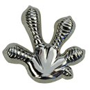 "Lapel Pin ""Gecko`s Foot"", silver"