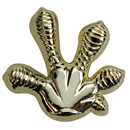 "Lapel Pin ""Gecko`s Foot"", gold"