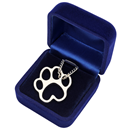 "Necklace ""Paw"", silver, in velvet box"