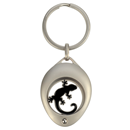 "Coin Holder with Coin ""Gecko"", black"