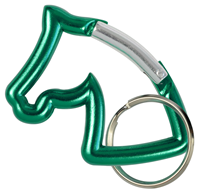 "Aluminium Snap Hook ""Horse Head"", green"