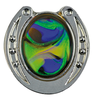 "Pin ""Hufeisen"", Living Opal"